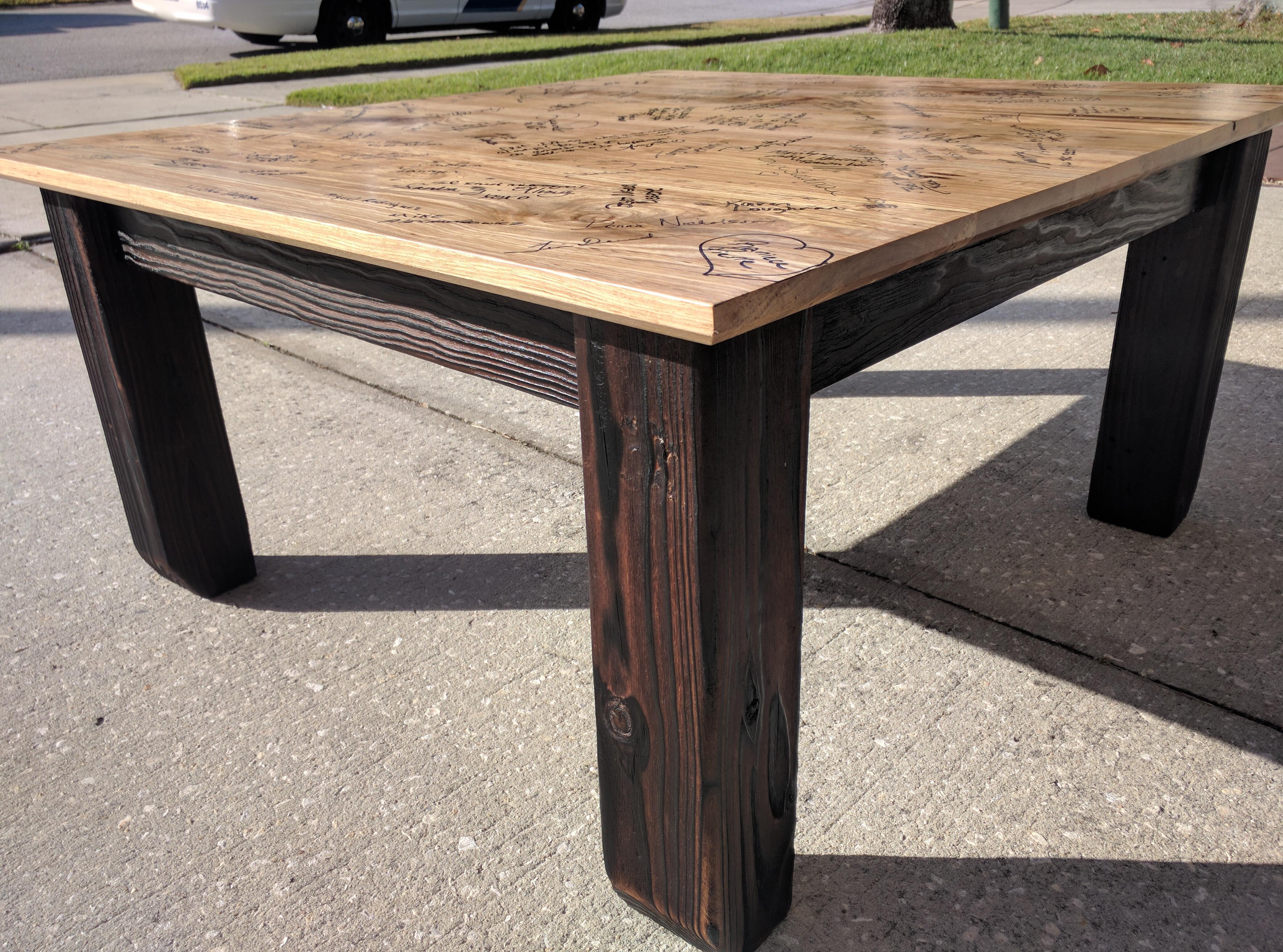 shou sugi ban coffee table dread knot woodshop. Black Bedroom Furniture Sets. Home Design Ideas